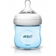 Avent Biberon Natural 125 ml Sistema Anticolica Azzurro